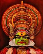 Fine art  - Pacha Kathakali Faceby ArtistHari Kumar