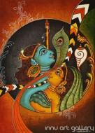 Fine art  - Krishna and Radha by Artist Sreeraj