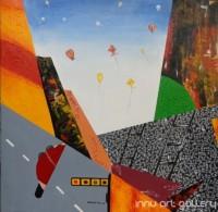 Fine art  - The City 1by ArtistKankana Pala