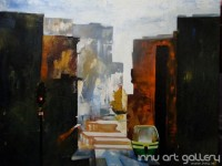 Fine art  - The City 2by ArtistKankana Pala