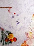 Fine art  - The Krishna 4by ArtistKankana Pala