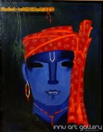 Fine art  - The Krishna 7by ArtistKankana Pala