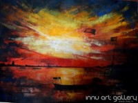 Fine art  - The Sunset by Artist Kankana Pala