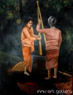 Fine art  - Working Women by Artist Kankana Pala