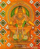 Fine art  - Lord Ayyappan Dharma Sastha Muralby Artist